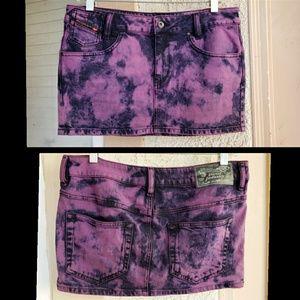 29 10 women DIESEL denim mini skirt tye dye